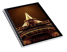 Load image into Gallery viewer, Eiffel Tower Glow - Spiral Notebook