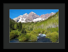 Load image into Gallery viewer, Maroon Bells And West Maroon Creek - Framed Print