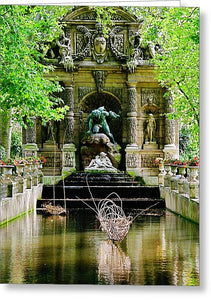 Medici Fountain, Paris - Greeting Card