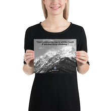 Load image into Gallery viewer, Poster - Finlay Quote With Mount Chapin Black & White