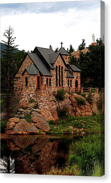 St. Catherine On The Rock in summer, Colorado - Canvas Print
