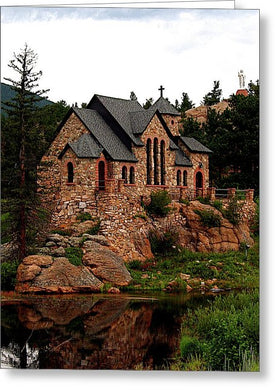 St. Catherine On The Rock in Summer, Colorado - Greeting Card