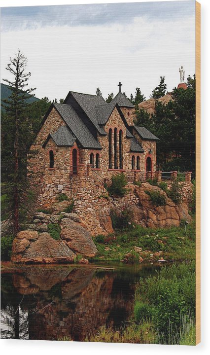 St. Catherine On The Rocks in summer, Colorado - Wood Print