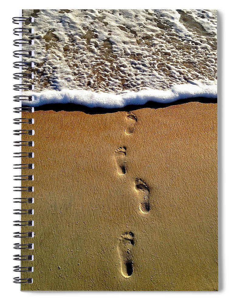 Steps To The Sea - Spiral Notebook