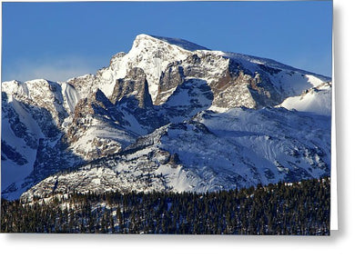 Taylor Peak And Sharkstooth, Rmnp - Greeting Card