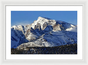Taylor Peak And Sharkstooth, Rmnp - Framed Print