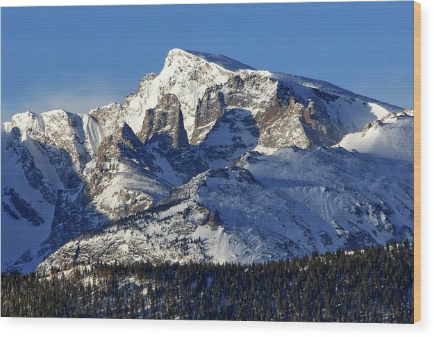 Taylor Peak And Sharkstooth, Rmnp - Wood Print