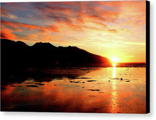 Load image into Gallery viewer, Turnagain Arm Sunset South Of Anchorage Alaska - Canvas Print