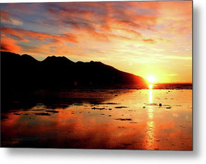 Turnagain Arm Sunset South Of Anchorage Alaska - Metal Print