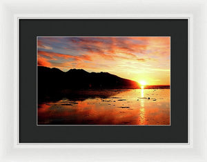 Turnagain Arm Sunset South Of Anchorage Alaska - Framed Print