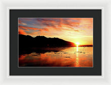 Load image into Gallery viewer, Turnagain Arm Sunset South Of Anchorage Alaska - Framed Print