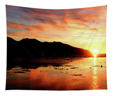 Turnagain Arm Sunset South Of Anchorage Alaska - Tapestry