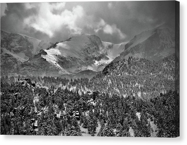 Winter View From Lumpy Range Trail - Canvas Print