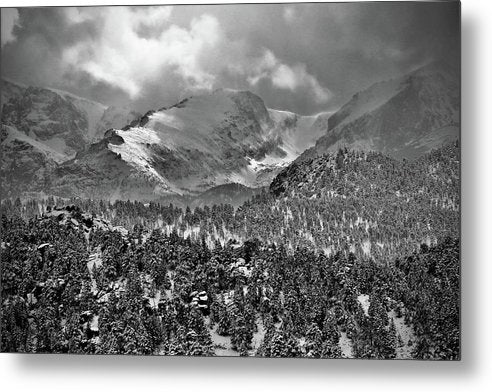 Winter View From Lumpy Range Trail - Metal Print