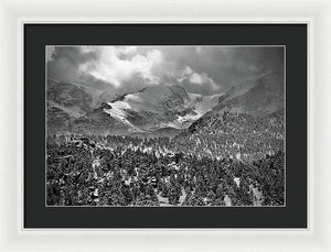 Winter View From Lumpy Range Trail - Framed Print