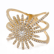 Women's Yellow 14 Karat Diamond Fashion Ring Size 7 With 0.58Tw Round Diamonds