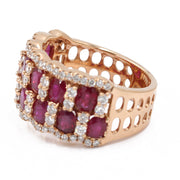 Women's Rose 18 Karat Statement Diamond Fashion Ring