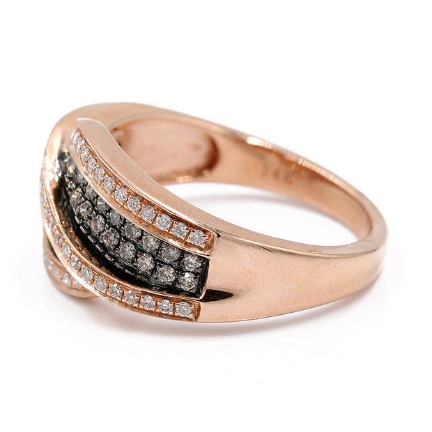 Women's Rose 14 Karat Geometric Fashion Ring