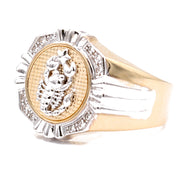 Men's  Yellow 14 Karat Contemporary Fashion Ring