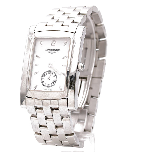 Longines S Steel Watch White Face