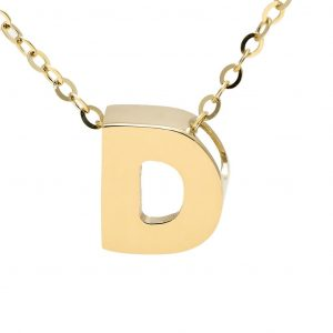 Women's Yellow Gold 14k Initial Necklaces