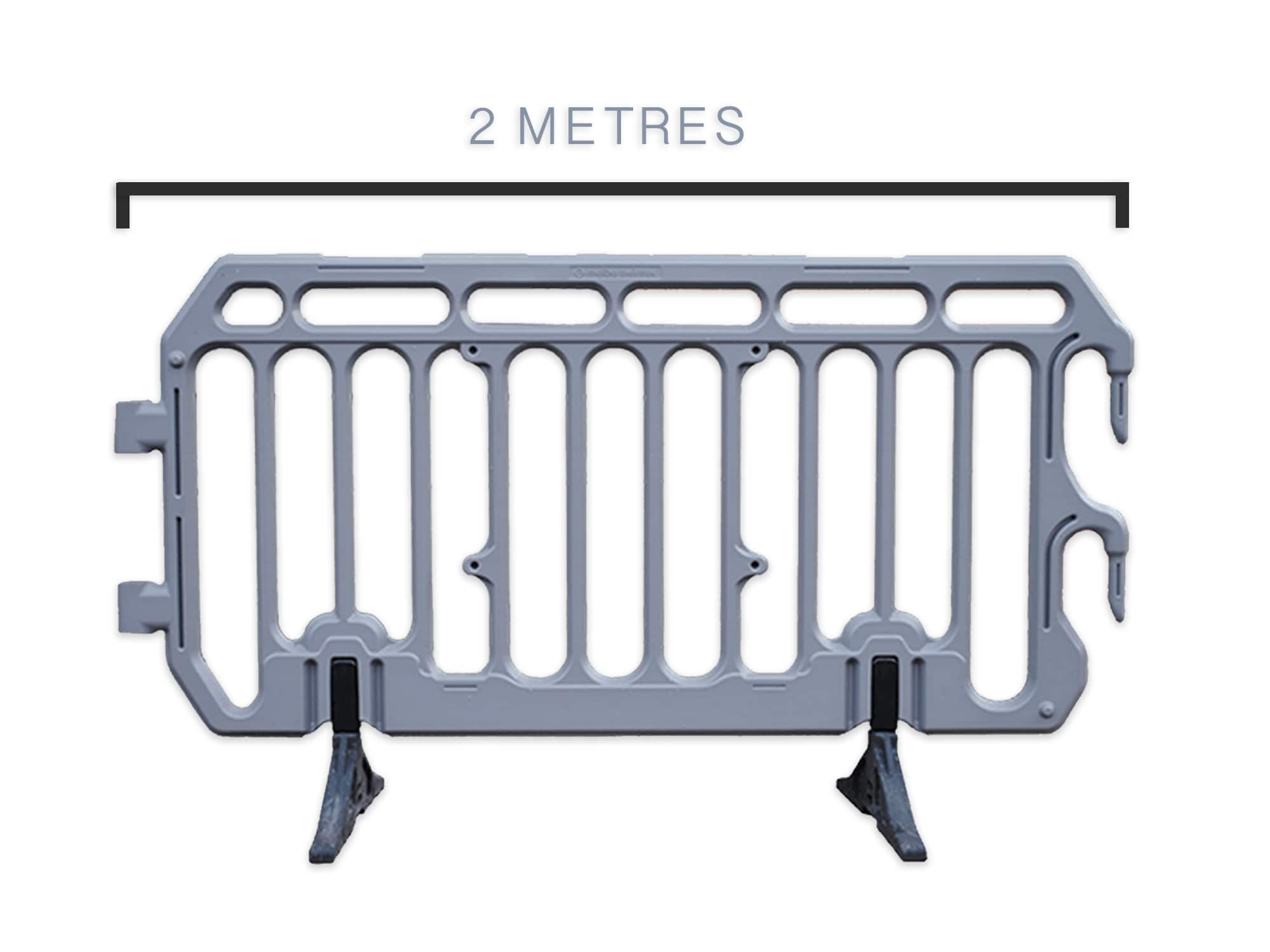 2m grey crowd control barrier