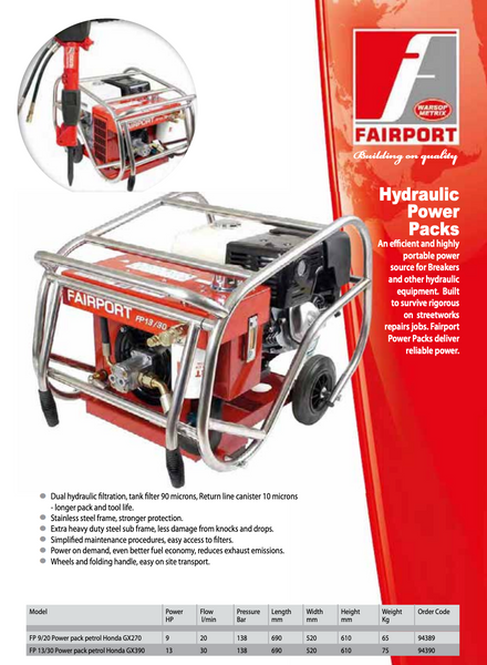 Fairport FP13/30 Hydraulic Power
