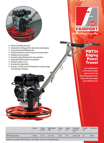 Fairport PMT24 Power Trowel 24""
