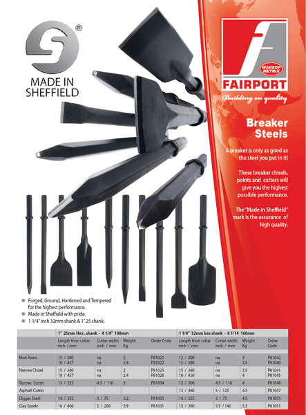 Fairport Heavy Duty Breaker Steels