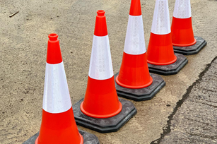 Road Safety Cones 750mm Street Bollards
