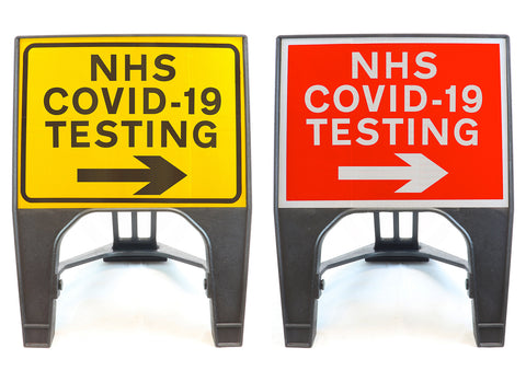 covid-19-test-testing-centre-site-sign-signage-signs-temporary-street-road-right-arrow