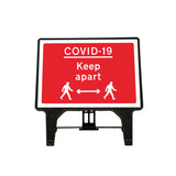 COVID19 Keep Apart Large Freestanding Sign