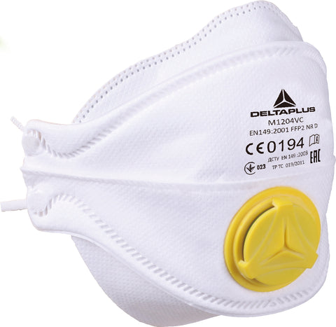 Delta Plus M1204V Valved Disposable Respiratory Face Dust Masks - Box of 10