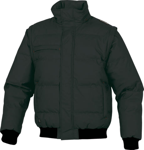 Delta Plus Randers PU Coated Quilted Bomber Work Jacket (Removable Sleeves)