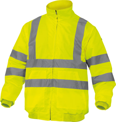 Delta Plus RENO Pu-Coating Oxford Polyester High Visibility Safety Jacket