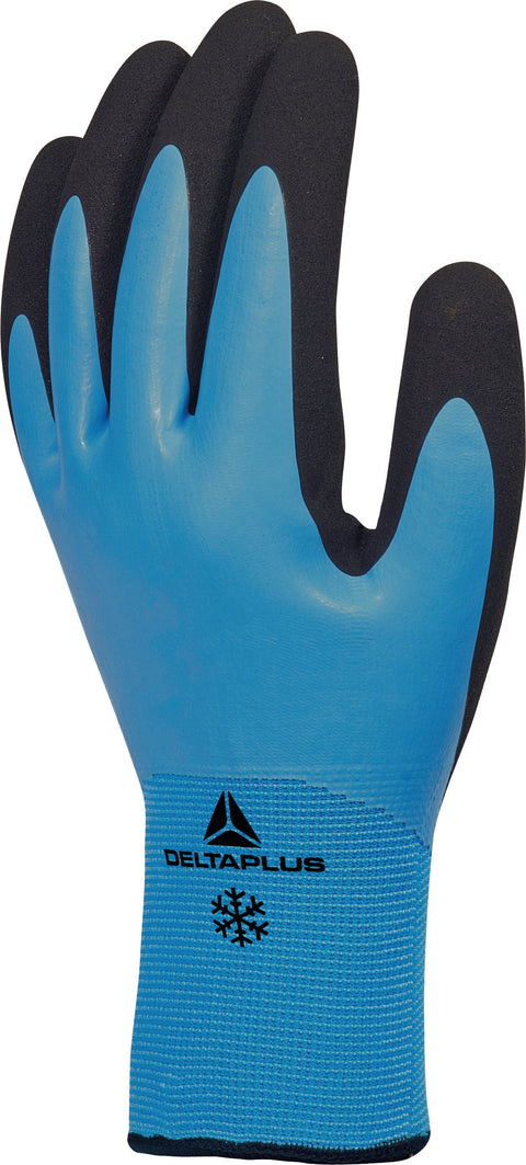 Delta Plus VV736 Double Latex Coated Thermal Work Gloves - 2 x Pairs