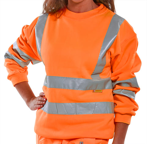 Beeseen Hi-Vis Sweatshirt - Orange