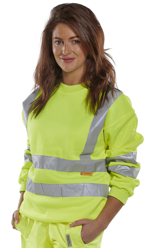 Beeseen Hi-Vis Sweatshirt - Yellow