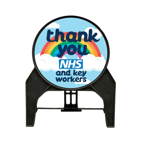 'Thank you NHS and key workers' Circle Freestanding Sign