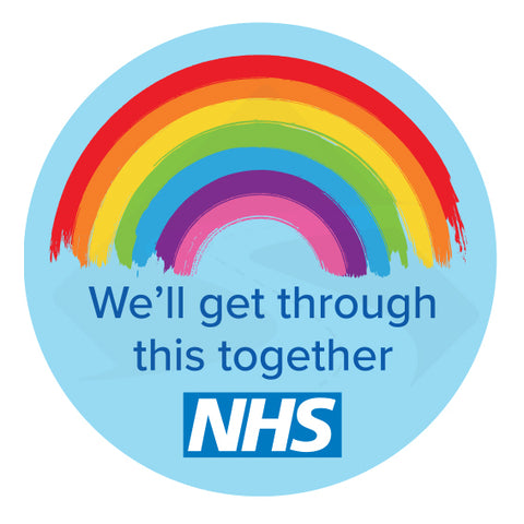 We'll get through this together nhs sticker