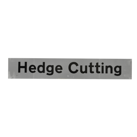 Hedge Cutting Supplementary Plate - Q-Sign