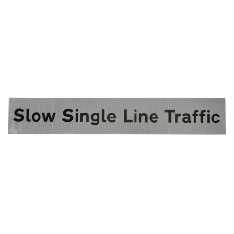 Slow Single Line Traffic Supplementary Plate - Q-Sign