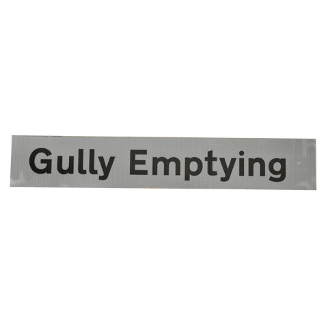 Gully Emptying Supplementary Plate - Q-Sign