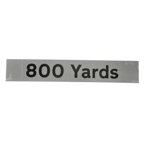 800 Yards Supplementary Plate - Q-Sign