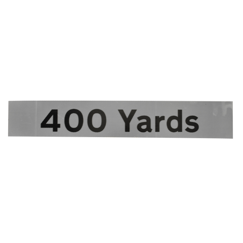 400 Yards Supplementary Plate - Q-Sign