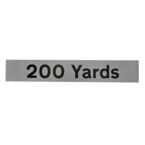 200 Yards Supplementary Plate - Q-Sign