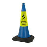 Blue 750mm 2-Piece Road Cone