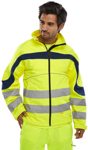 Beeseen Hi-Vis Softshell Jacket - Yellow