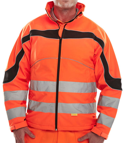 Beeseen Hi-Vis Softshell Jacket - Orange