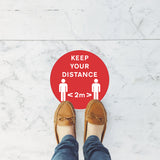 """KEEP YOUR DISTANCE 2m"" Floor Sticker"